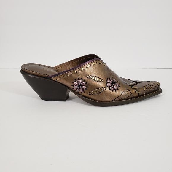 6958caa048968 BCBGirls Shoes | Womens Cowboy Boots Mules Size 7 | Poshmark